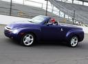 Фото авто Chevrolet SSR 1 поколение, ракурс: 90 цвет: синий