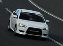 Фото авто Mitsubishi Lancer X, ракурс: 315 цвет: белый
