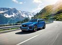 Фото авто Jaguar F-Pace 1 поколение, ракурс: 45 цвет: синий