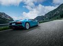 Фото авто Lamborghini Aventador 1 поколение [рестайлинг], ракурс: 225 цвет: голубой