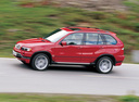 Фото авто BMW X5 E53, ракурс: 90 цвет: вишневый