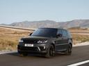 Фото авто Land Rover Range Rover Sport 2 поколение [рестайлинг], ракурс: 45 цвет: мокрый асфальт