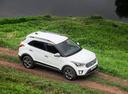 Фото авто Hyundai Creta 1 поколение, ракурс: сверху цвет: белый