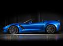 Фото авто Chevrolet Corvette C7, ракурс: 90 цвет: голубой