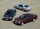 Фото авто Mercedes-Benz E-Класс W210/S210, ракурс: 45 цвет: бордовый