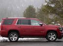 Фото авто Chevrolet Tahoe 4 поколение, ракурс: 270 цвет: красный