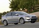 Фото авто Mitsubishi Lancer X, ракурс: 315 цвет: серебряный