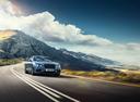 Фото авто Bentley Flying Spur 1 поколение, ракурс: 315 цвет: голубой