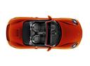 Фото авто Porsche Boxster 982, ракурс: сверху цвет: оранжевый