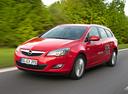 Фото авто Opel Astra J, ракурс: 45 цвет: красный