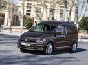 Фото авто Volkswagen Caddy 4 поколение, ракурс: 45 цвет: коричневый