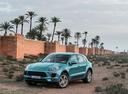 Фото авто Porsche Macan 1 поколение, ракурс: 45 цвет: голубой