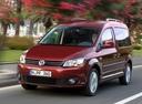 Фото авто Volkswagen Caddy 3 поколение [рестайлинг], ракурс: 45 цвет: красный