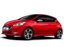 Фото авто Peugeot 208 1 поколение, ракурс: 45 цвет: красный