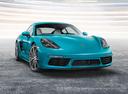 Фото авто Porsche Cayman 982, ракурс: 315 цвет: аквамарин