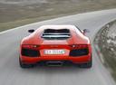 Фото авто Lamborghini Aventador 1 поколение, ракурс: 180 цвет: оранжевый