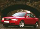 Фото авто Audi A4 B5, ракурс: 45 цвет: красный