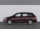 Фото авто Skoda Fabia 5J [рестайлинг], ракурс: 90 цвет: бордовый