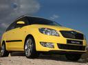 Фото авто Skoda Fabia 5J [рестайлинг], ракурс: 315 цвет: желтый