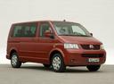 Фото авто Volkswagen Multivan T5, ракурс: 315 цвет: красный