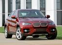 Фото авто BMW X6 E71/E72, ракурс: 315 цвет: красный