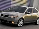 Фото авто Kia Cerato 2 поколение, ракурс: 45 цвет: серый