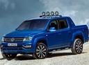 Фото авто Volkswagen Amarok 1 поколение [рестайлинг], ракурс: 45 цвет: синий