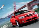 Фото авто Kia Cerato 1 поколение, ракурс: 315 цвет: красный