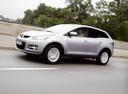 Фото авто Mazda CX-7 1 поколение, ракурс: 45 цвет: серебряный