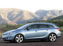 Фото авто Opel Astra J, ракурс: 90 цвет: голубой