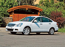 Фото авто Nissan Almera G11, ракурс: 45 цвет: белый