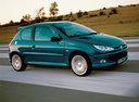 Фото авто Peugeot 206 1 поколение [рестайлинг], ракурс: 315 цвет: зеленый