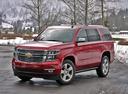 Фото авто Chevrolet Tahoe 4 поколение, ракурс: 45 цвет: красный