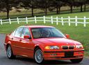 Фото авто BMW 3 серия E46, ракурс: 315 цвет: красный