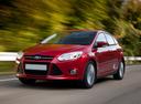 Фото авто Ford Focus 3 поколение, ракурс: 45 цвет: бордовый