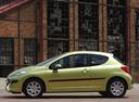 Фото авто Peugeot 207 1 поколение, ракурс: 90 цвет: салатовый