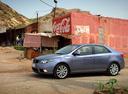 Фото авто Kia Cerato 2 поколение, ракурс: 90 цвет: серый