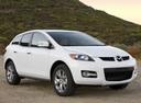 Фото авто Mazda CX-7 1 поколение, ракурс: 315 цвет: белый