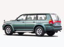Фото авто Mitsubishi Montero Sport 1 поколение, ракурс: 135 цвет: зеленый