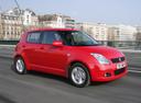 Фото авто Suzuki Swift 3 поколение, ракурс: 270 цвет: красный