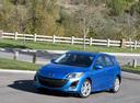 Фото авто Mazda 3 BL, ракурс: 45 цвет: голубой