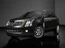Фото авто Cadillac SRX 2 поколение [рестайлинг], ракурс: 45 цвет: черный
