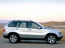 Фото авто BMW X5 E53, ракурс: 270 цвет: серебряный