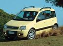 Фото авто Fiat Panda 2 поколение, ракурс: 45 цвет: желтый