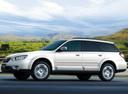 Фото авто Subaru Outback 3 поколение [рестайлинг], ракурс: 45 цвет: белый