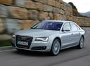 Фото авто Audi A8 D4/4H, ракурс: 45 цвет: серебряный