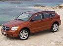 Фото авто Dodge Caliber 1 поколение, ракурс: 90 цвет: оранжевый