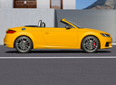 Фото авто Audi TT 8S, ракурс: 270 цвет: желтый