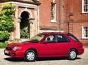 Фото авто Subaru Impreza 2 поколение, ракурс: 45 цвет: красный