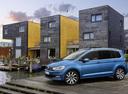 Фото авто Volkswagen Touran 2 поколение, ракурс: 45 цвет: синий